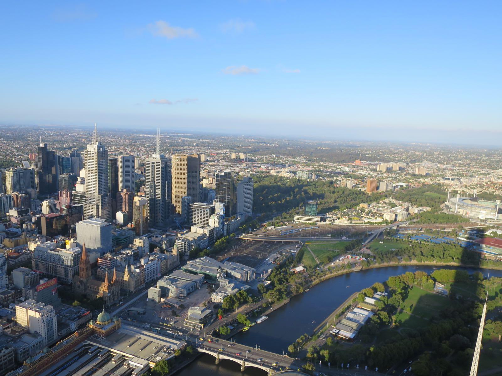 Melbourne Eureka Skydeck -pilvenpiirtäjän 88. kerroksesta