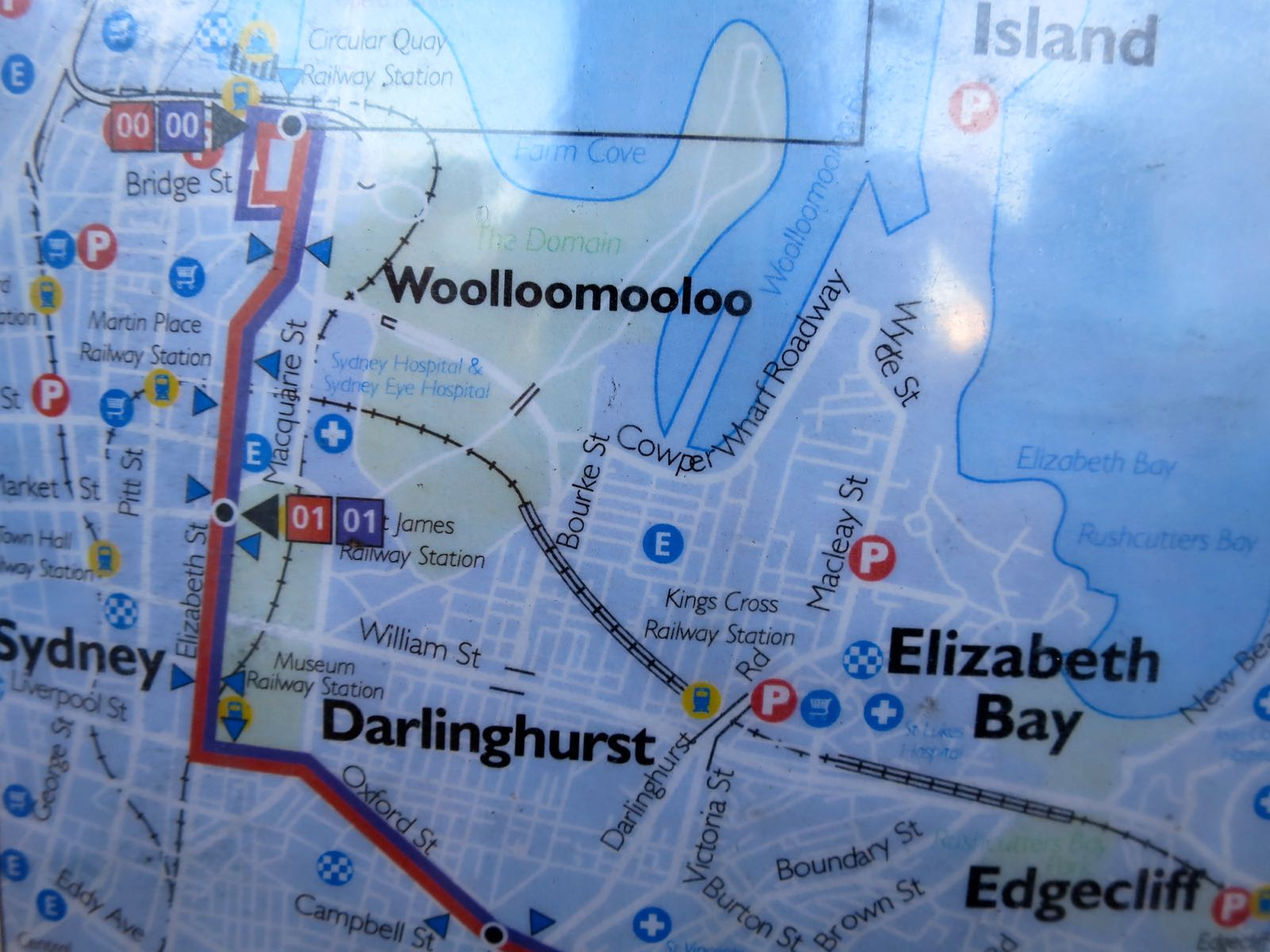 Ihan normaalilta kuulostavia englanninkielisiä paikannimiä ja sitten Woolloomooloo