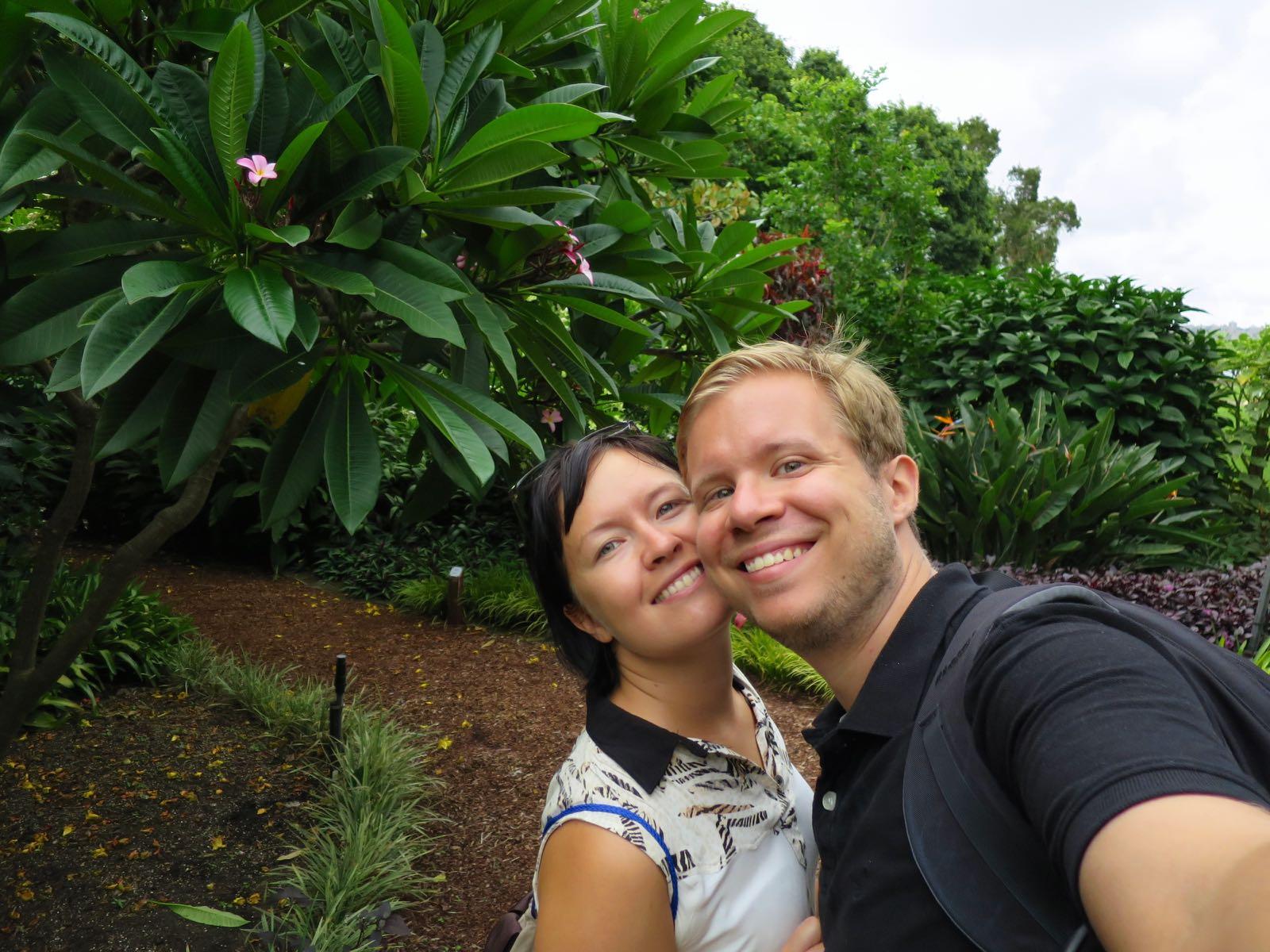 Me kasvitieteellisessä puutarhassa