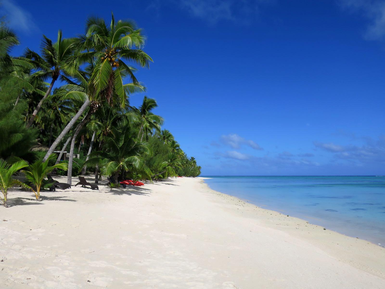 Matriki Beach Hutin rantaa. Mahtava paikka!